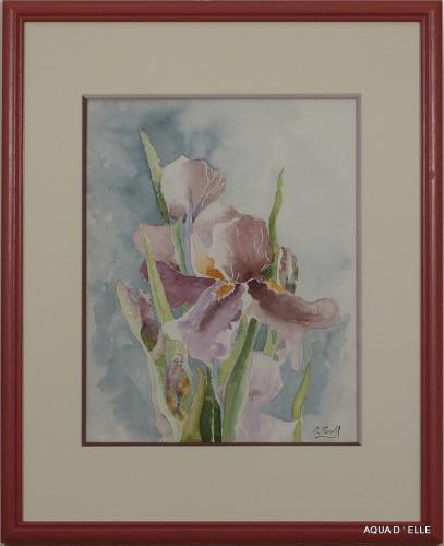 1-Iris mauve-(40x50)