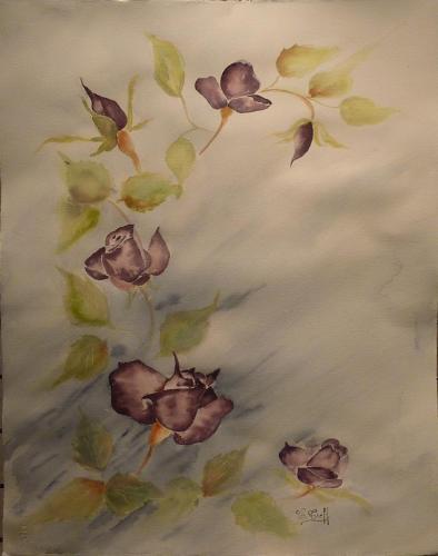 204b-Guirlande de roses-(38x50)
