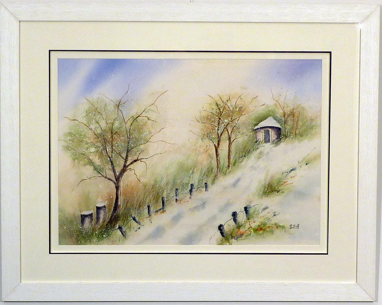 224b-Gariotte sous la neige-(78x60)