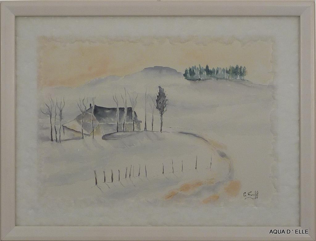 37-Maison sous la neige-(60x45)