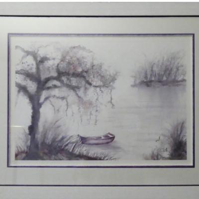 162-Barque sur le lac-(74x57)
